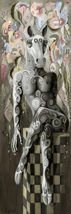 LA REINE DES REINES, 2010, huile sur toile, 180h x 60 cm