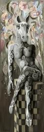 LA REINE DES REINES, 180h x 60 cm