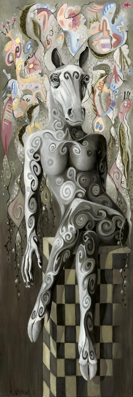 LA REINE DES REINES, Huile sur toile, 180 X 60 cm